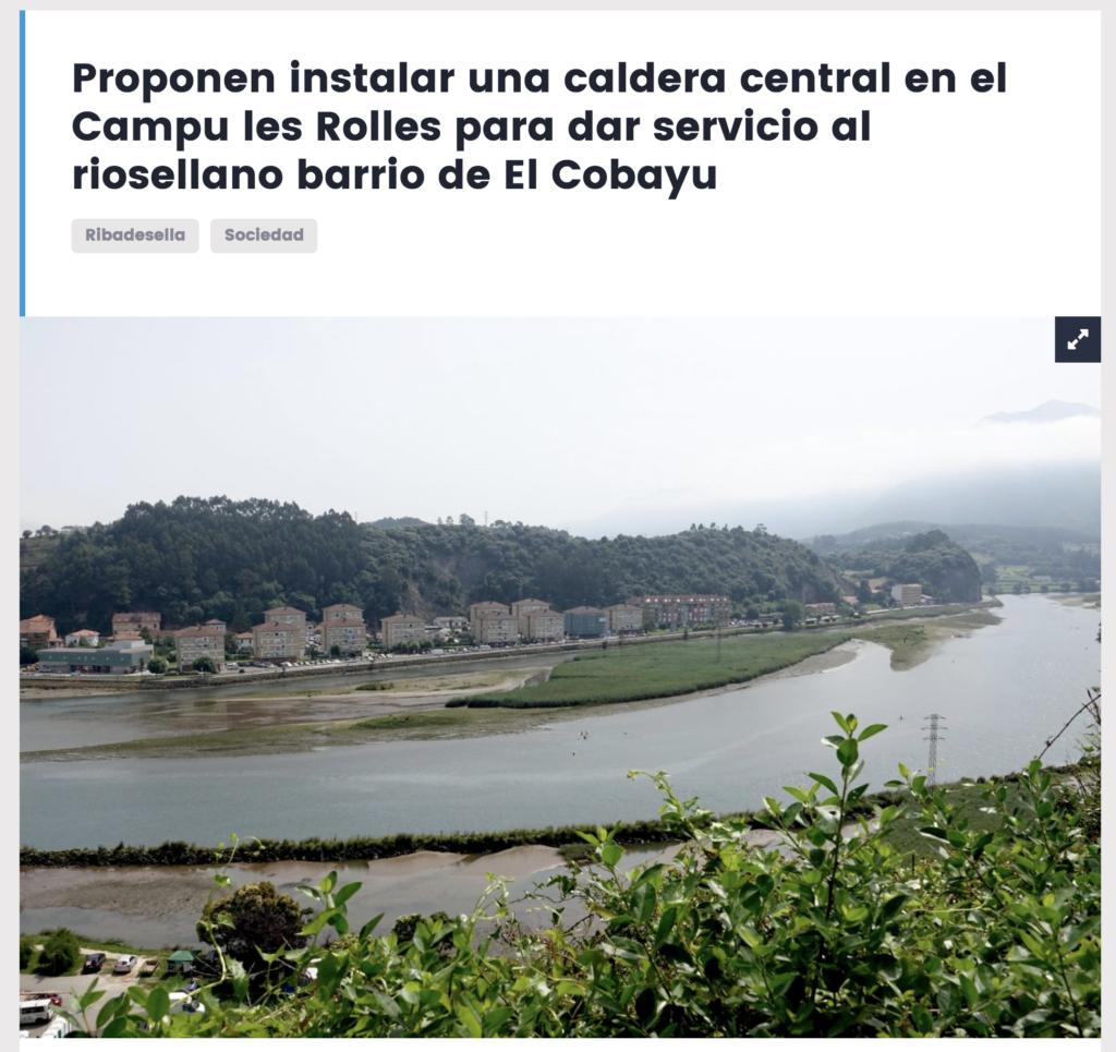 Proponen instalar una caldera central en el Campu les Rolles para dar servicio al riosellano barrio de El Cobayu